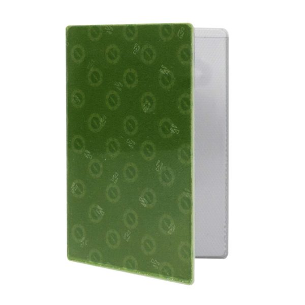 Reflective, Folded Riveted Transit Card Holder with Green Compass